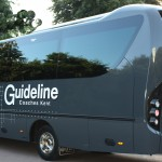 An image of a Guideline Coaches Ltd coach outside in Kent.