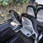 An image of the interior of a coach from Guideline Coaches Ltd.