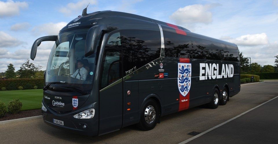 an image showing England Team Coach hospitality coach hire