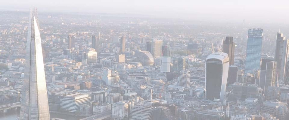 An image of the London skyline and locations that Guideline Coaches Ltd serve